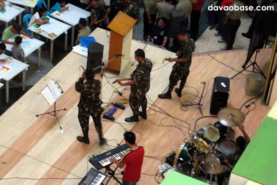 A musical band from the Philippine Army was found playing at Gaisano Mall of Davao