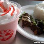 Strawberry Milkshake and Cheesy Beef at Pronto Mario