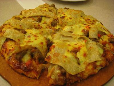 Pizza Hut Viva Lasagna Pizza, up close and personal