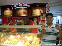 Eating Pistachio Gelato at Gelatissimo in SM City Cebu