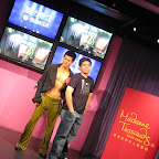 Posing on the runway with Aaron Kwok at Madame Tussauds in The Peak, Hong Kong