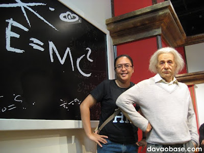 Albert Einstein at Madame Tussauds in The Peak, Hong Kong