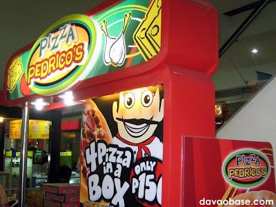 Pizza Pedrico's stall in NCCC Mall Davao