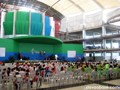 Tagum City Hall's central auditorium looks like it can pack 1000 people in a concert!