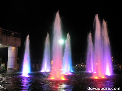 Amazing fountain and lights display at the New City Hall in Tagum City