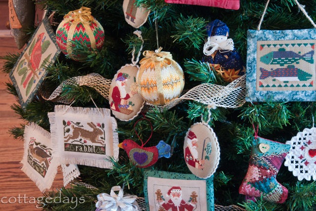 needlework tree closeup