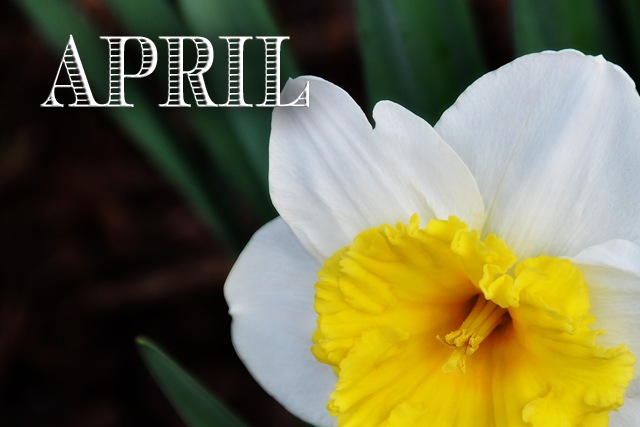 April blog header