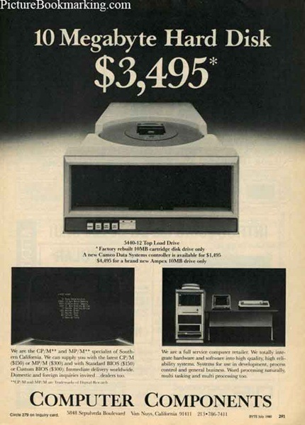 10 MB hard disk