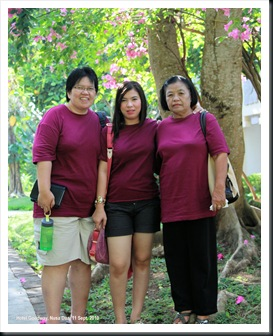 My aunt, my wife and my mother-in-law at Goodway Hotel, Nusa Dua, Bali