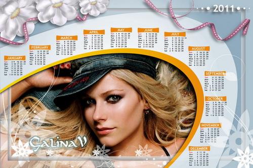 Нежная фоторамка и календарь на 2011 год