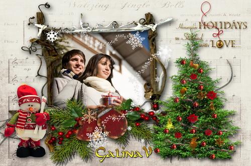 Рождественская рамка - Красивый праздник