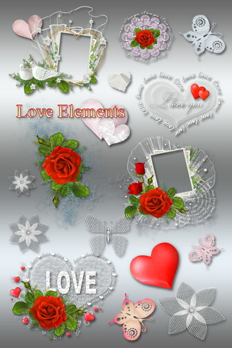 Клипарт и рамки PNG ко Дню Св. Валентина
