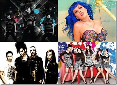 MTV_World_Stage_ArtistsBunkface, Tokio Hotel, Wonder Girls and Katy Perry
