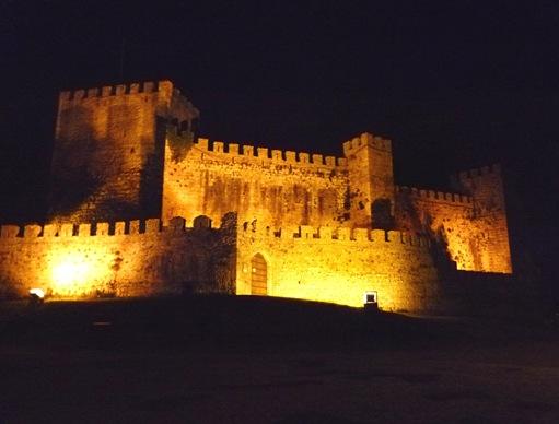 vista nocturna do Castelo de Montemor-o-Velho