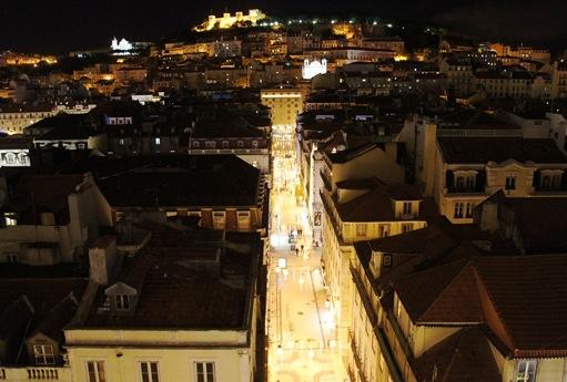 Baixa - Lisboa- vista a partir do elevador de St. Justa