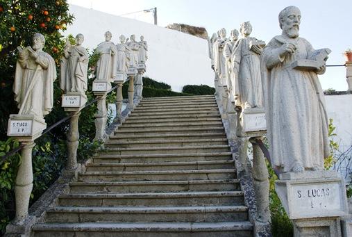 Castelo Branco - Jardim do Paço Episcopal - escadaria dos apostolos