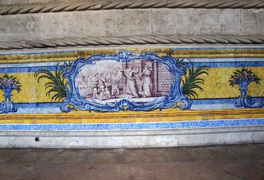 mosteiro dos Jeronimos -  azulejo do refeitório 1