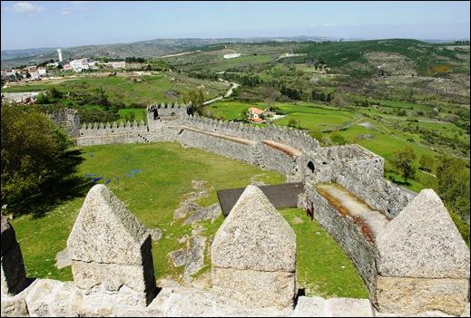 9.Trancoso -  castelo medieval - vista a partir da torre de menagem