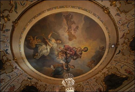 Palacio de Queluz -  Quarto D.Quixote detalhe teto