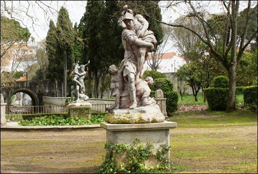 Palácio de Queluz - largo dos Plátanos - Eneias e Anquises