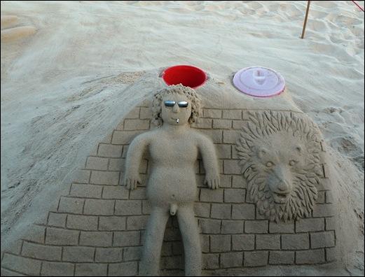 Praia de Mira - escultura na areia 1