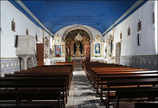 Glória Ishizaka - Vila do Touro - igreja matriz - interior