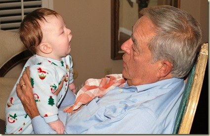12-25 Kyle with Grampa