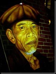 Malang Tempo Doeloe 2010 Old Man Painting