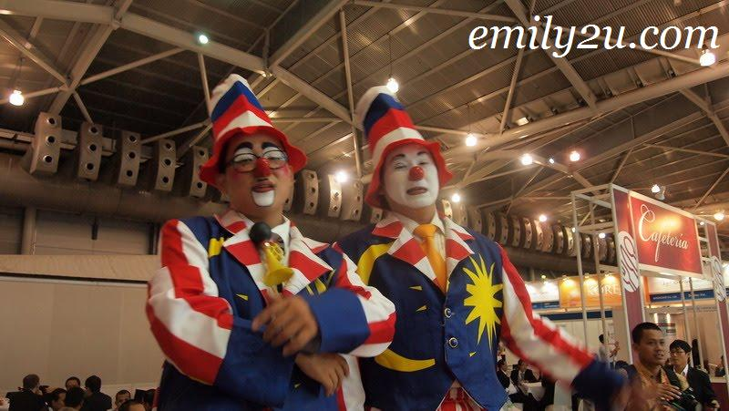 Communic Asia Malaysian clowns