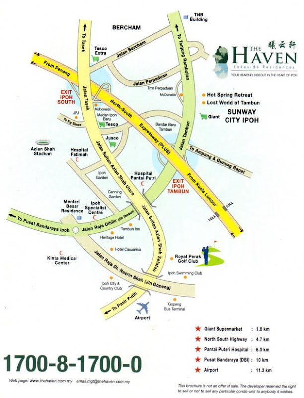 The Haven Location Plan