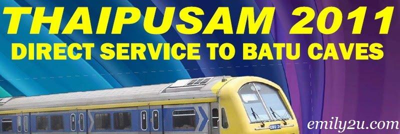 KTM Komuter train service to Batu Caves