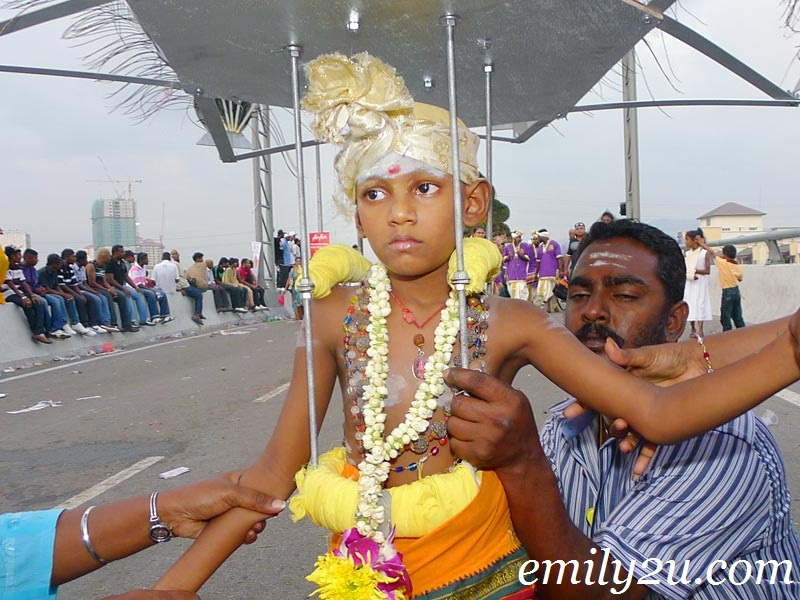 Thaipusam child kavadi bearer