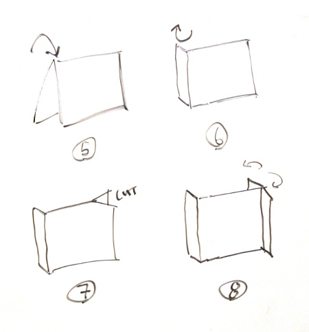 Take a second piece of paper and fold it in half lengthwise (5). Then make a roughly 2.5 centimeter fold on one of the edges perpendicular to the first fold ...  sc 1 st  tSoNeV.com & Craft a Temporary Light Tent Out of Paper and Binder Clips ...