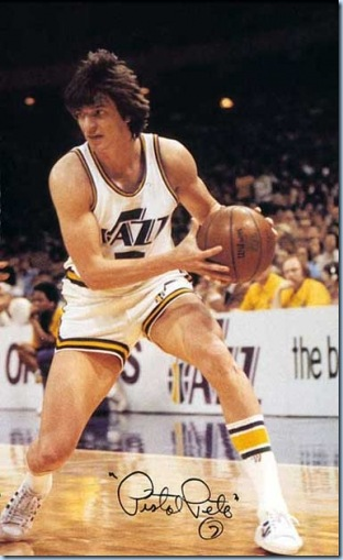Pistol Pete Maravich . . . the very early zenith of Jazz wingplayers