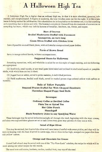 High tea menus and recipes