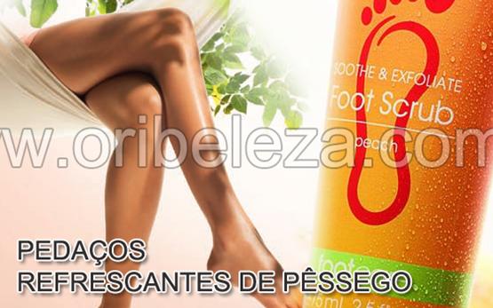 Linha Foot Care com Aroma de Pêssego da Oriflame