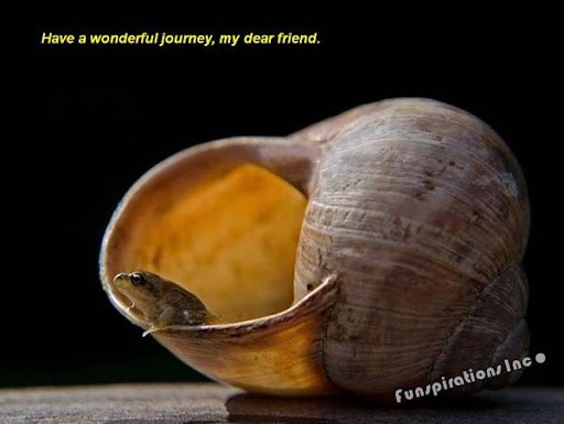 Have a wonderful journey, my dear friend.