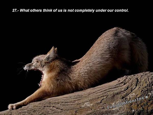 What others think of us is not completely under our control.