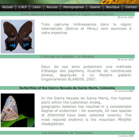 16. En cliquant sur ce « tag », on obtient la liste de tous les articles traitant de la région néotropicale.