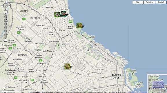 Localisation des photos à Buenos Aires et Vicente Lopez