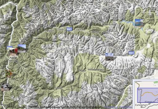 Localisation des photos : Pamir occidental (juillet 2007)