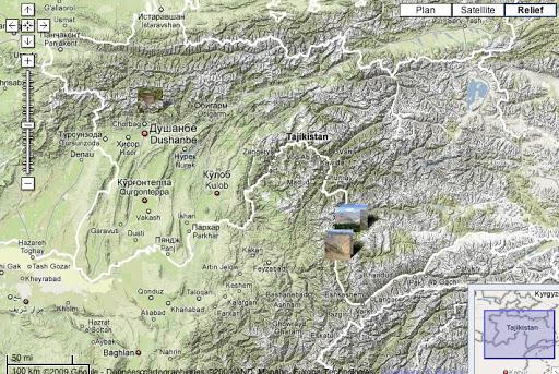 Localisation des photos pour Satyrium deria au Tadjikistan
