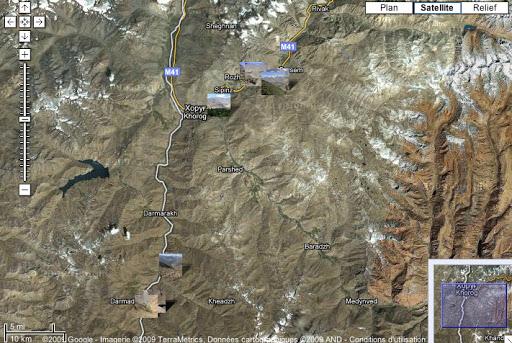 Localilsation des photos dans la région de Khorog