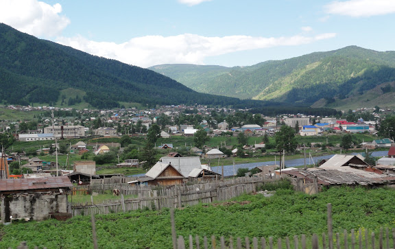 La ville d'Ongudaï, 8 juillet 2010. Photo : B. Lalanne-Cassou
