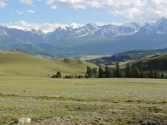 Les Monts Severo-Chuyskij, à l'ouest de Kuraï, 8 juillet 2010. Photo : B. Lalanne-Cassou