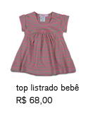 top listrado bebê | R$ 68,00