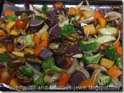 balsamic dressed veggies