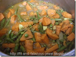 sweet potato and green bean curry