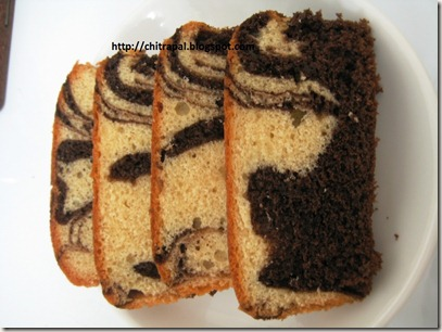 Chitra Pal Marble Cakes slices