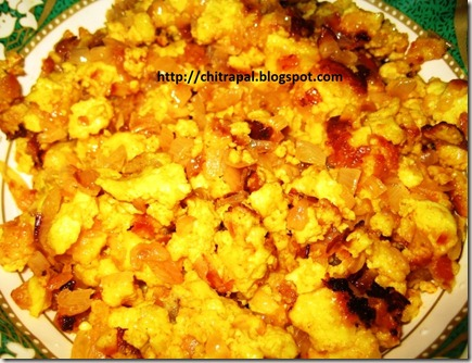 Chitra Pal Simple Paneer Bhurji